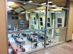 View of the cafeteria from above
