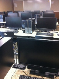 The loneliest room in the school - the computer lab