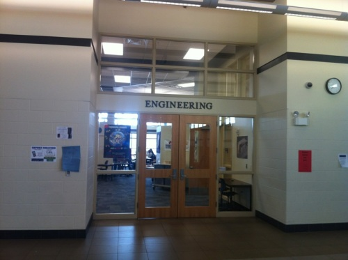 Abraham Lincoln High School in Council Bluffs features an entire Engineering Wing.  How cool is that?