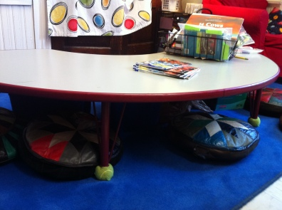 Notice how this table was taken down to approx 10 inches.
