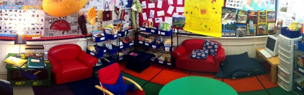 A first grade room that's as warm and inviting as they come..