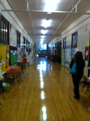 The hallways are wide and spacious at Burley, in fact, they are often used for pull groups and learning activities.