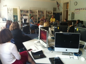 Our tour concluded with a debriefing session with their teachers.
