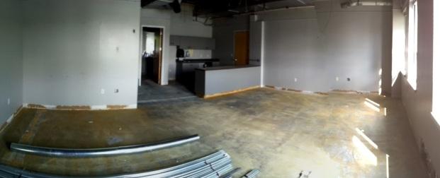The break room.